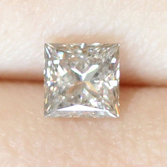 0.97 Silver Grey L SI2 Square Modified Brilliant Laboratory Grown Diamond