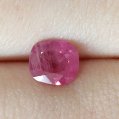 1.10 Medium Fuchsia Mixed Cushion Cut Akara Sapphire