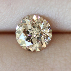 1.03 Fancy Soft Brown SI2 Sirius Star Round Cut Vintage Diamond