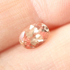 1.03 Peach Champagne Chatham Grown Sapphire - Fairtrade Jewellery Co.