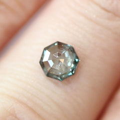 0.84 Fancy Greenish Blue Octagon Rose-Cut Lab-Grown Diamond