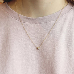 Yellow Gold Bezel Set Diamond Necklace