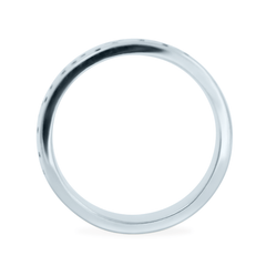 Wide Dimple Band Platinum