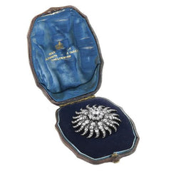 1800s Vintage Star Diamond Combination Brooch & Pendant with Original Box