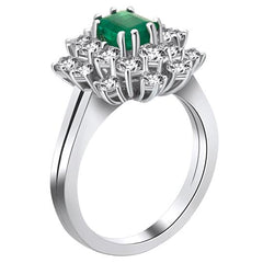 Vintage Ring wih Diamond and Emerald