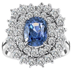 Vintage Sapphire and Diamond Ballerina Style Ring