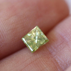 0.92 Fancy Natural Green Vintage Rectangular Modified Brilliant Diamond