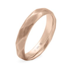 Hand Carved Faceted Band