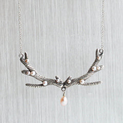 Pearl Antler Necklace