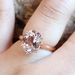 Morganite Cocktail Ring in 18K Rose Gold