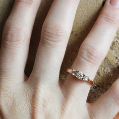 Vintage Diamond Trellis Engagement Ring