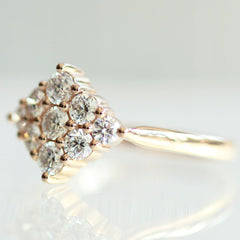 Aurelie Cluster Ring in Rose Gold