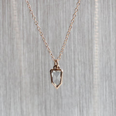 Rose-Cut Shield Pendant in Rose Gold