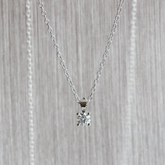 Diamond Pendant in Palladium White Gold