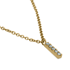 Mini Diamond Bar Pendant - Fairtrade Jewellery Co.