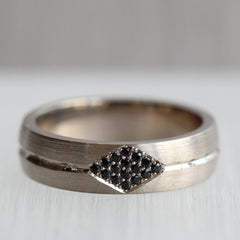 6mm Low Dome Band with Kite Shape Pave