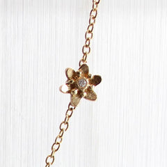 Asymmetrical Flower Necklace