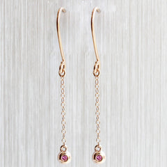 Sphere Drop Earrings in 18K Rose Gold
