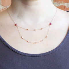 Greenland Ruby Bead Necklace