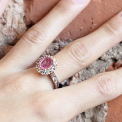 Peacock Cocktail Ring with AKARA Greenland Origin Ruby