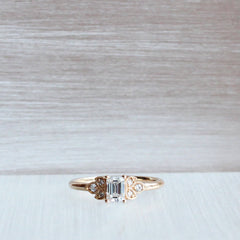 Frances Emerald Cut Engagement Ring