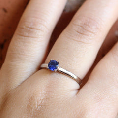 Madagascar Sapphire Love Note Solitaire