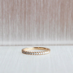 18K 2 mm Rose Gold Stacker Band