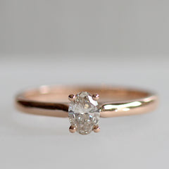 Oval More Than a Promise Ring in Rose Gold