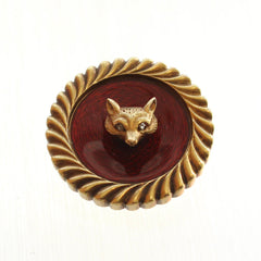 Antique Fox Head Pin in 14K Gold
