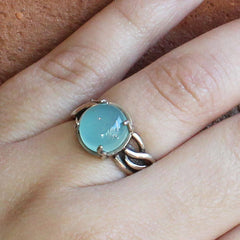 Silver & Chalcedony Jellyfish Ring