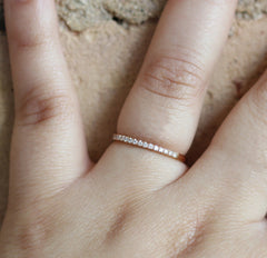 1.5mm Diamond Stacker in 18K Rose Gold
