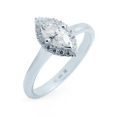 FTJCo Marquise-Cut Love Note Halo set with Swarovski Diamonds