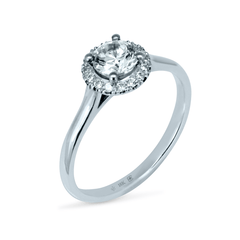 FTJCo Love Note Halo with Swarovski Lab Diamonds