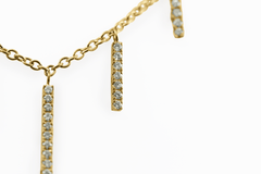 Diamond Bar Necklace in 18K Yellow Gold