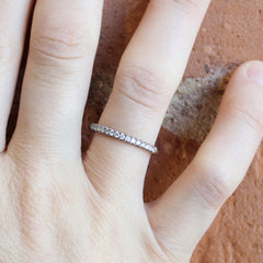 18K Recycled White Gold Stacker 2mm