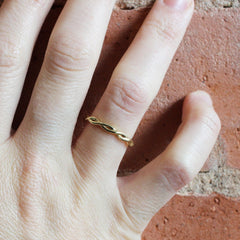 Yellow Gold Twisted Ring