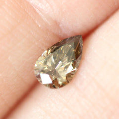 0.35 Raven Grey Pear Lab Diamond