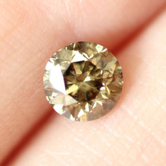 0.70 Bay Leaf Green Round Lab Diamond
