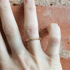Harlequin Eternity Band in Rose Gold