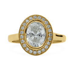 FTJCo Oval Bezel Halo set with Swarovski Diamonds