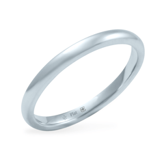 Platinum 2mm Wide Low Dome Band