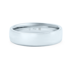 Platinum 5mm Wide Low Dome Band