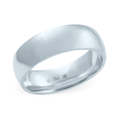 Platinum 6mm Wide Low Dome Band