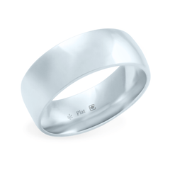 Platinum 7mm Wide Low Dome Band
