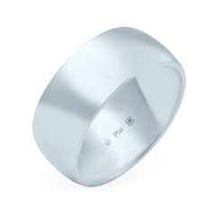 Platinum 8mm Wide Low Dome Band