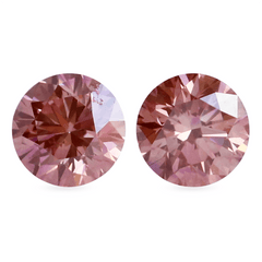 1.03 tcw Fancy Deep Purple Pink Round Brilliant Laboratory Grown Pair - Fairtrade Jewellery Co.