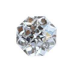 0.99 Octagon-Cut Sirius Star 80 Facets K SI2 Vintage Re-cut