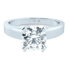 18K Diamond Star Sign Solitaire