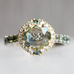 AGTA Spectrum Awards™/WJA GemDIVA™ Award-Winning Looking Glass Halo Ring