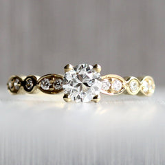 Old European Cut Diamond Clara Engagement Ring in Yellow